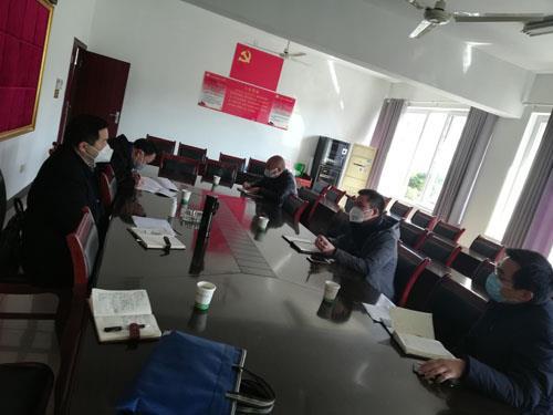 巴南区农业农村委主任左鹏到镇上开会